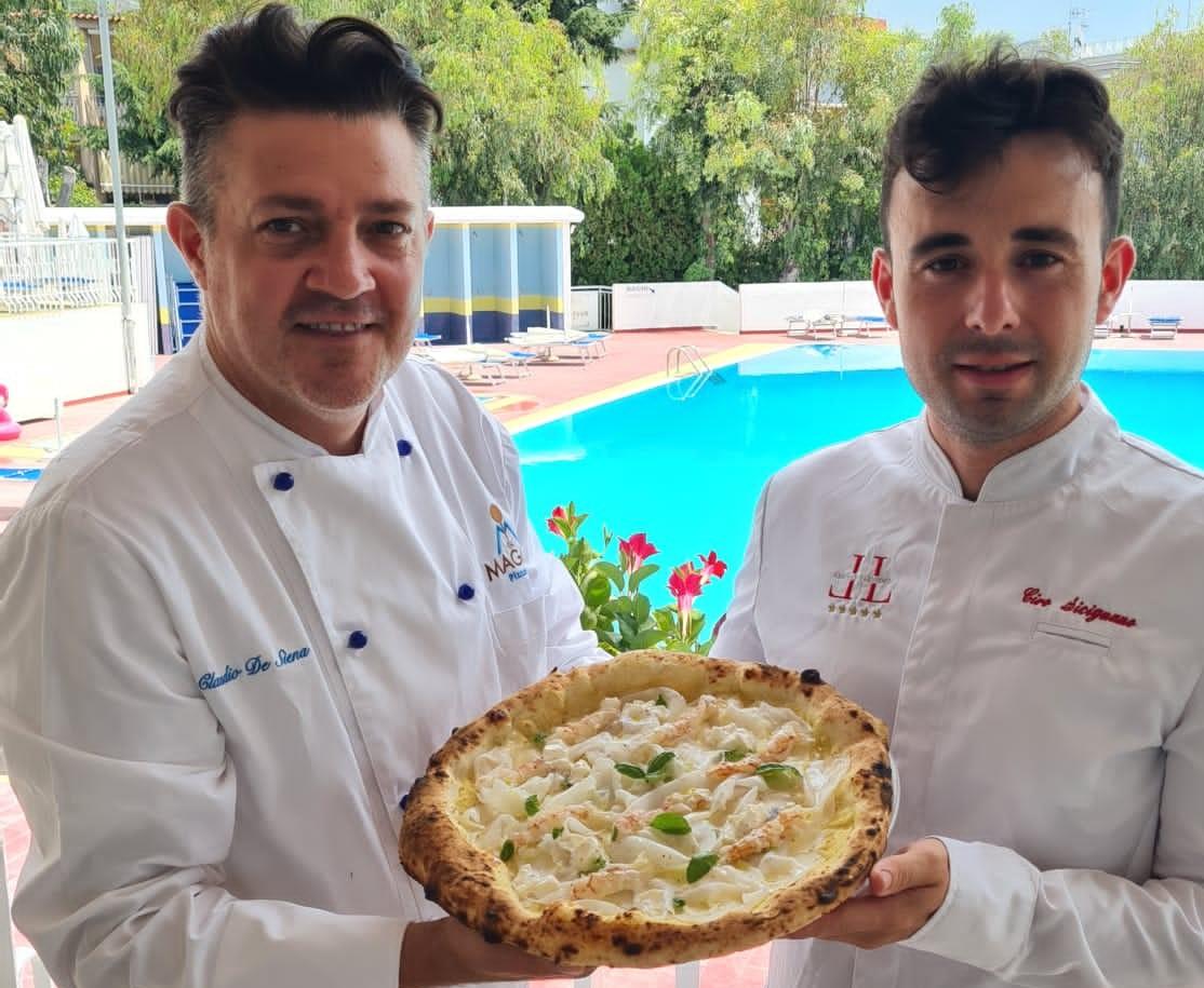 Claudio De Siena e Ciro Sicignano con la nuova pizza I Love Lorelei