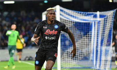 Viktor Osimhen esulta dopo il goal segnato al Torino - foto di Vincenzo Di Monda